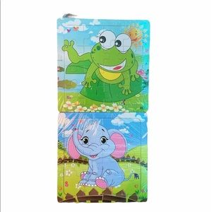 NWT Wooden Toddler/Baby Animal Puzzles